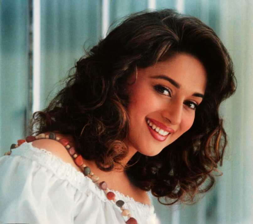 A smiley face of Madhuri Dixit